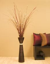 "28"" Fluted Bamboo Floor Vase :: Bamboo Decor"