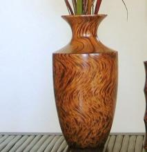 "14"" Mangowood Egret Vase :: Wooden Table Vases"