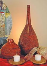 "18"" Mangowood Cherry Teardrop Jar :: Wooden Table Vases"