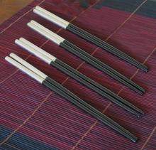 Silver Leaf Lacquer Chopsticks :: Designer Chopsticks