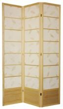 "84"" Botanic Shoji Screen (Natural Finish) :: 84"" Tall Shoji Screens"