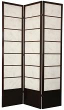 "84"" Botanic Shoji Screen (Walnut Finish) :: 84"" Tall Shoji Screens"