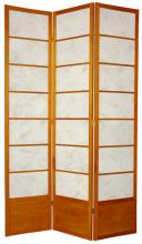 "84"" Botanic Shoji Screen (Honey Finish) :: 84"" Tall Shoji Screens"