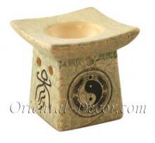 Yin Yang Character Burner :: Ceramic Incense Burners
