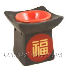 Red Pagoda Burner :: Ceramic Incense Burners