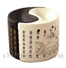 Yin Yang Buddha Burner :: Ceramic Incense Burners