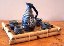 5 Piece Monsoon Wind Sake Set :: Sake Sets