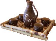 Japanese Blossom Sake Set :: Sake Sets