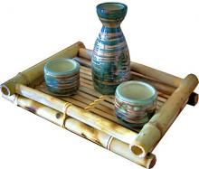 3 Piece Monsoon Wind Sake Set :: Sake Sets