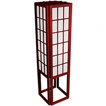 "45"" Window Pane Japanese Lamp (Rosewood Finish) :: Japanese Lamps"