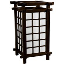 Edo Period Lamp (Walnut Finish) :: Japanese Lamps