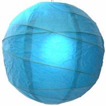 Refreshing Aqua Blue Globe Lantern ::