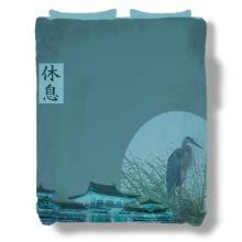 Mystic Cranes Bedspread :: Asian Bedspreads