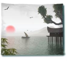 Still Water Blanket :: Asian Blankets