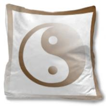 Yin Yang Throw Pillow :: Asian Pillows