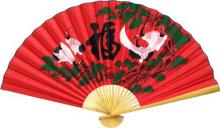 Whirling Cranes :: Asian Wall Fans