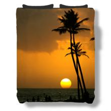 Tropical Sunset Bedspread :: Asian Bedspreads