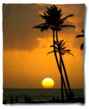 Tropical Sunset Blanket :: Asian Blankets