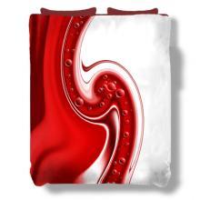 Red Swirl Duvet Cover :: Asian Duvet Covers