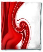 Red Swirl Blanket :: Asian Blankets