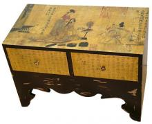 Traditional Calligraphy Two-Drawer Chest :: Asian Style Furniture
