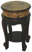 Golden Flower Stool :: Asian Style Furniture