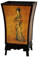 Enchanted Lady Waste Basket :: Asian Style Furniture