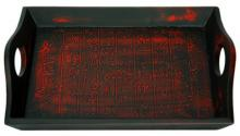 Black Calligraphy Tray :: Oriental Serving Trays