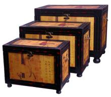 Raging Stallions Storage Boxes (Set of Three) :: Oriental Boxes and Trunks