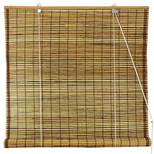 Burnt Bamboo Roll Up Blinds - Tortoise :: Window Blinds
