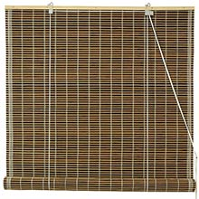 Burnt Bamboo Roll Up Blinds - Dark Olive :: Window Blinds