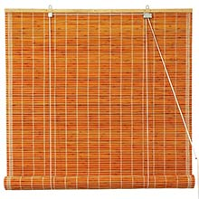 Burnt Bamboo Roll Up Blinds - Honey :: Window Blinds
