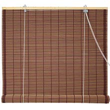 Burnt Bamboo Roll Up Blinds - Mahogany :: Window Blinds