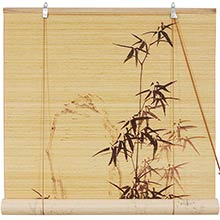 Black Bamboo Design Blinds :: Window Blinds