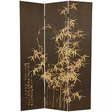 Frameless Natural Bamboo Design Screen :: Double Sided Shoji Screens