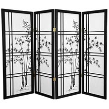"48"" Bamboo Sunrise (Black Finish) :: 48"" Short Shoji Screens"