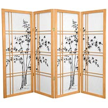 "48"" Bamboo Sunrise (Natural Finish) :: 48"" Short Shoji Screens"