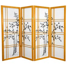 "48"" Bamboo Sunrise (Honey Finish) :: 48"" Short Shoji Screens"