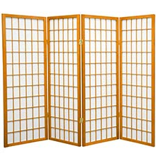 "48"" Window Screen (Honey Finish) :: 48"" Short Shoji Screens"