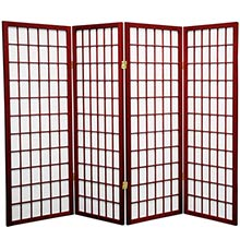 "48"" Window Screen (Rosewood Finish) :: 48"" Short Shoji Screens"