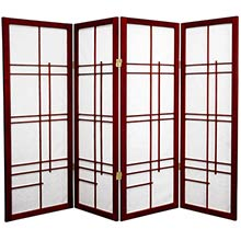 "48"" Hinaga Screen (Rosewood Finish) :: 48"" Short Shoji Screens"
