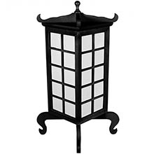 Kobe Japanese Lamp (Black Finish) ::
