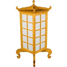 Kobe Japanese Lamp (Honey Finish) :: Japanese Lamps