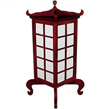Kobe Japanese Lamp (Rosewood Finish) :: Japanese Lamps