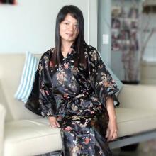 Black Dragon Kimono Robe :: Kimono Robes