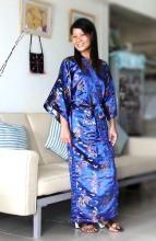 Blue Dragon Kimono Robe ::