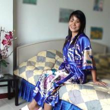 Blue Geisha Kimono Robe :: Kimono Robes