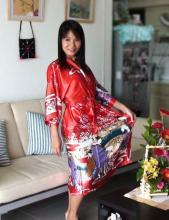 Red Geisha Kimono Robe ::