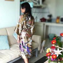 Gold Geisha Kimono Robe ::