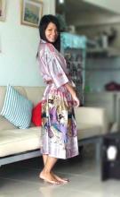 Pink Geisha Kimono Robe :: Kimono Robes